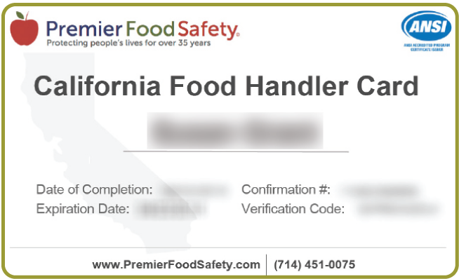 california food handler card online training